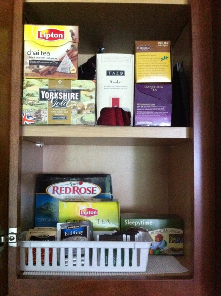 My tea cabinet, no kidding.